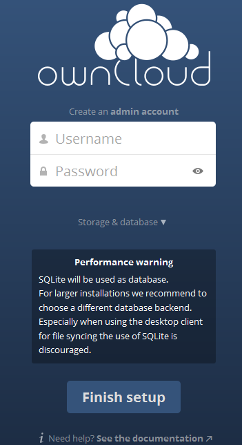 database-and-login-owncloud